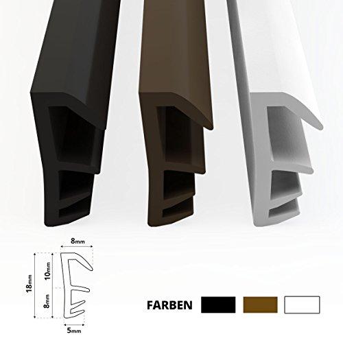 STEIGNER Flügelfalzdichtung Fensterdichtung Nutbreite 5mm aus TPE, 50m, Schwarz, SFD14