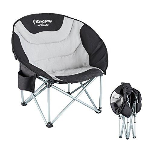 KingCamp Moon Chair Campingstuhl bis 150 kg belastbar mit Kühltasche