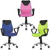 FineBuy Kinder-Schreibtischstuhl KIM Schwarz Limette für Kinder ab 6 mit Lehne | Kinder-Drehstuhl Kinder-Bürostuhl ergonomisch | Jugendstuhl höhenverstellbar