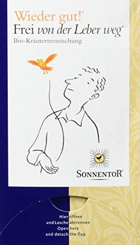 Sonnentor Tee Frei von der Leber weg - Wieder gut! Doppelkammerbeutel, 2er Pack (2 x 27 g) - Bio