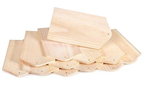 12 Frühstücksbrettchen Holzbrettchen Holz Schneidebrett VBS Großhandelspackung