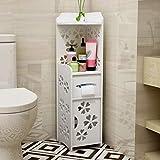 MThomes Modernes Badezimmer-Kabinett-Eckregal-Schrank-Toilettenpapier-Rolleneinheit-unterer Speicher mit der rechten oder linken öffnenden Tür