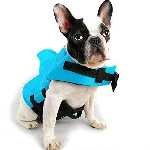 NIBESSER Hundeschwimmweste,Haustier-Schwimmweste,Rettungswesten für Hunde, Hunde Shark Pattern Schwimmweste