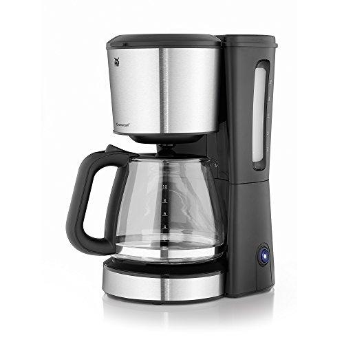 WMF BUENO Kaffeemaschine Glas, 10 Tassen, 1000 W, Aromaglaskanne, Warmhalteplatte, Tropfstopp, cromargan/silber