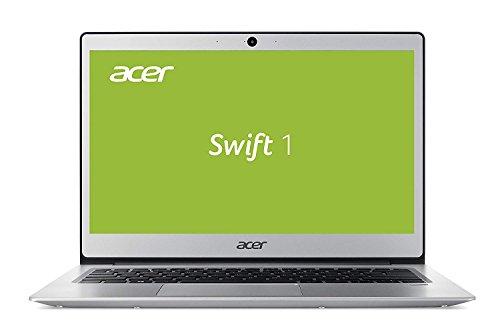 Acer Swift 1 SF113-31-C7ZJ 33,8 cm (13,3 Zoll HD matt) Ultrabook (Intel Celeron N3450, 4GB RAM, 64GB eMMC, Intel HD, Win 10 im S Modus) silber