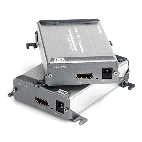 MiraBox Ethernet HDMI Extender 100m (328ft) Über Single LAN Kabel verlustfrei No-IME Delay über Cat5 Cat5e Cat6 Cat6e für DVR, DVD, Heimkino