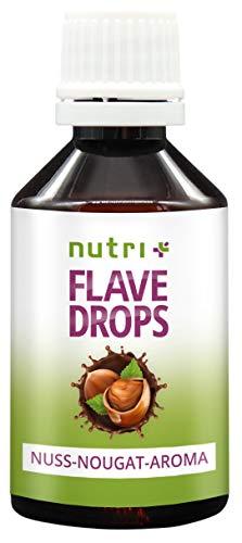 Flave-Drops Nuss-Nougat 50ml - Kalorienfreie Aroma-Tropfen - Geschmackstropfen zum Süßen und Backen - Flavor Drop Vegan - Flavour ohne Zucker