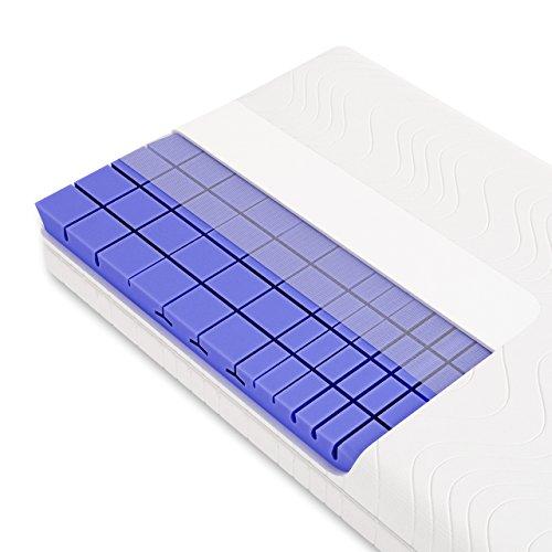 3D 7-Zonen Würfelschnitt HR-Kaltschaummatratze ca. 19cm Gesamthöhe, RG50, geprüfter KERN + Bezug (TÜV Rheinland, LGA) - LUXUSLINE - SCHLUMMERPARADIES Matratze ( 90x200 cm, h2 )