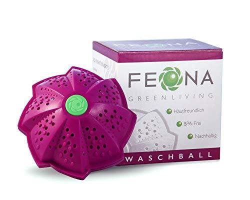 FEONA Öko Waschball für die Waschmaschine | Bio Waschkugel mit 4 Mineralien | BPA-frei waschen ohne Waschmittel | Allergiker- und Umweltfreundlich | Mit 2-Fach-Magnetpower