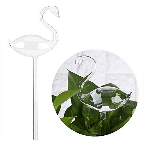 GOTOTOP Automatische Gießen Gerät Glas Bewässerungshilfe Blumen Gießen Glas Sprinkler für Garten Blume Pflanze 4 Muster (Schwan)