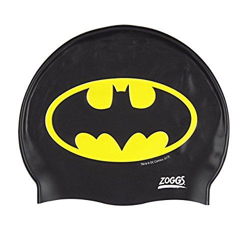 Zoggs Kinder Batman-Silicone Cap Badekappe, Black, One Size