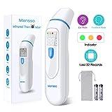 Fieberthermometer Stirnthermometer Ohrthermometer Infrarot Professional Thermometer für Babys Kinder Erwachsenen, 1 Sekunde Messzeit mit Fieberwarnung Speicherfunktion,CE/FDA Zertifiziert