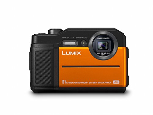 Panasonic LUMIX DC-FT7EG-D Outdoor Kamera in Orange (20,6 Megapixel, 4K Foto, 4K Video, Wasserdicht bis 31 m, USB, stoßfest bis 2 m)