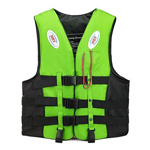Gyratedream Professional Schwimmweste Kinder Erwachsene Reflektierende Einstellbare Weste Jacke Mit Pfeife Gürtel Zum Schwimmen
