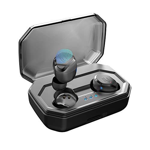 【2019 Neueste】 Antimi Bluetooth Kopfhörer Kabellos Noise Cancelling In Ear Ohrhörer Wireless Bluetooth 5.0 Headset mit 3000mAh Batterie Sport IPX7 Wasserdicht Mikrofon für iPhone Android Samsung