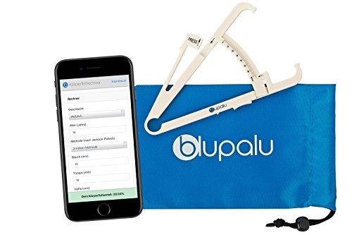 blupalu Körperfettzange Caliper zum Messen von Körperfett - Web-App Körperfett-Rechner