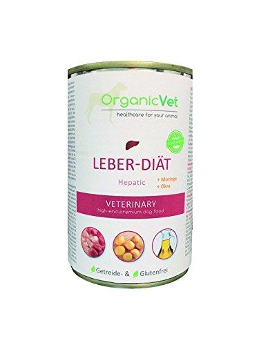 ORGANICVET Hund Nassfutter Veterinary Leber-Diät, 6er Pack (6 x 400 g)