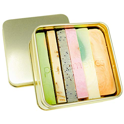 puremetics Testpaket: 6'Seifenminis' inkl. Seifenbox   Naturseife festes Duschgel, Shampoo, Gesichtspflege   100% natürlich & vegan   Zero Waste   müllfrei  inkl. Seifenbox