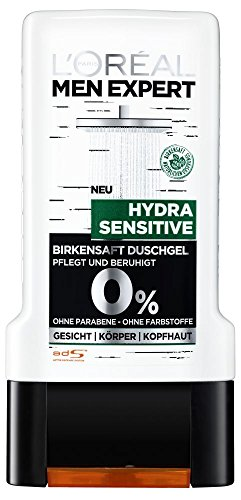 L'Oréal Men Expert Hydra Sensitive Birkensaft Duschgel, 6er Pack (6 x 300 ml)