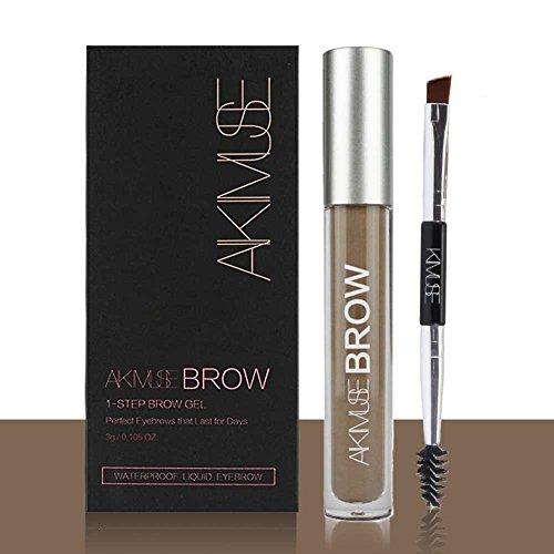 ROMANTIC BEAR Wasserfest Augenbrauen Farben Gel Mit Pinsel Set,Anti-discoloration Eyebrow Gel,BLACKBROWN