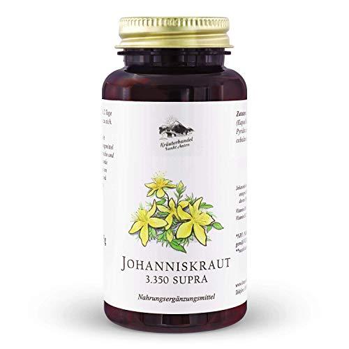 EINFÜHRUNGSPREIS Kräuterhandel Sankt Anton - Johanniskraut 3.350 Supra - 150 Kapseln - Hypericin - Mit Vitamin B6 + Vitamin B12 - Deutsche Premium Qualität