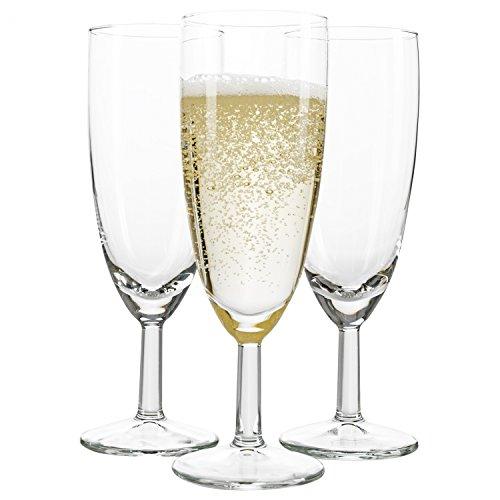 Van Well 48er Set Sektglas Royalty Standard, 18 cl, Ø 50 mm, H 160 mm, Sektflöte, Kelchglas, Champagner-u. Prosecco-Glas, Partyglas, glasklar, Gastronomie