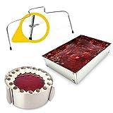 4smile Backset Tortenring Backrahmen Tortenbodenteiler – Made in Germany aus Edelstahl – Mega Set Backen 3teilig für kleine und große, runde und eckige Kuchen und Torten Kreationen