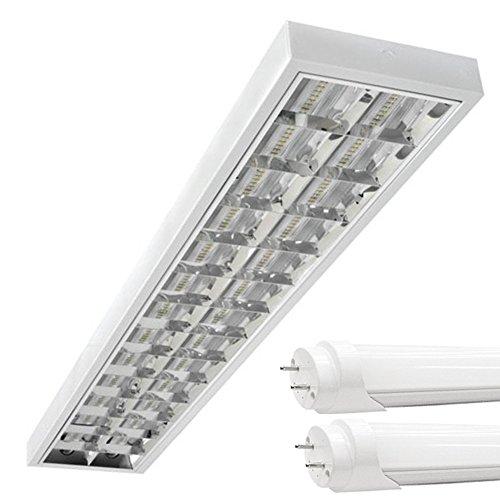LED Rasterleuchten mit 2X T8 LED 120cm 18W neutralweiß 4500K G13 Bürolampe
