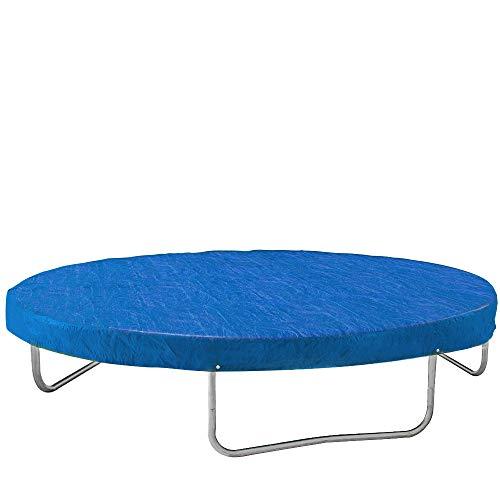 Monzana Abdeckung Trampolin Trampolinschutz Abdeckplane Regenschutz | Ø 244/305/366/426 cm | blau | reißfest | UV-beständig | leicht zu reinigen