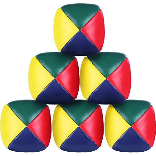 Patelai 6 Set Jonglierbälle für Anfänger, Hochwertige Mini Jonglierbälle, Langlebige Jonglier Bälle, weiche, einfache Jonglierbälle für Kinder und Erwachsene (Mehrfarbig)