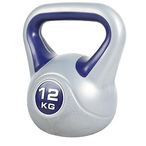GORILLA SPORTS Kettlebell Stylish 2-20 kg Kunststoff Einzeln/Set – Fitness-Kugelhantel 12 kg Dunkelblau