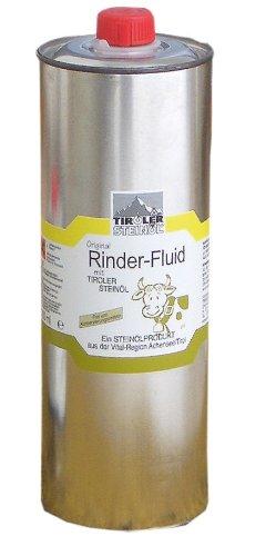Rinder Fluid Bremsenöl 1000 ml mit Tiroler Steinöl für Rinder und Pferde | Fliegenschutz | Insektenschutz | Bremsenschutz | Gelsenschutz | Tiroler Steinoel