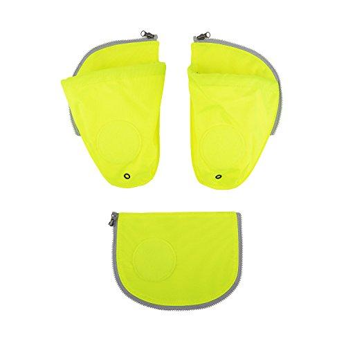 Ergobag Zubehör und Accessoires Sichherheitsset Pack 3-tlg mit Seitentasche Gelb Gelb
