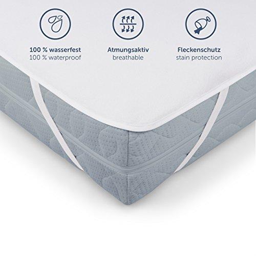 Blumtal Wasserdichter Matratzenschoner - Atmungsaktive Matratzenauflage, Ohne Knistern, 90x200cm, weiß