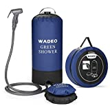 WADEO Campingdusche mit Pumpe, Druckdusche Dusche Tasche Reisedusche 11 Liter mit Duschkopf tragbare und Abnehmbarem Schlauch Duschen Beutel Shower für Wandern, im Freien, Klettern