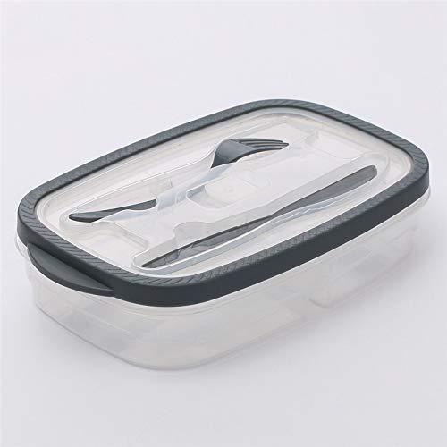 SQZQ Lunchbox-Behälter, Kunststoff-Lunchbox Catering-Aufbewahrung Essenszubereitung Lunchbox 2 Fächer Mehrweg-Mikrowellenbehälter Family-Lunchbox