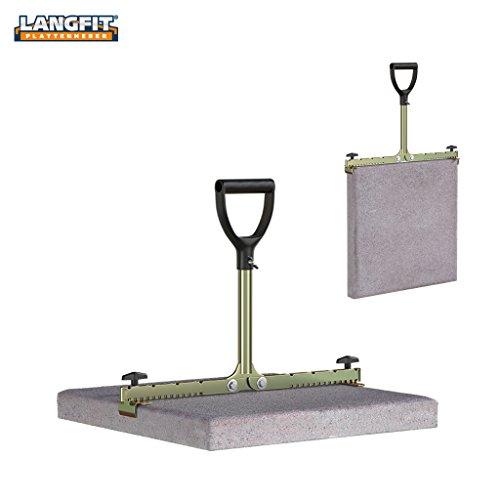LANGFIT Plattenheber - Rückenfreundlich durch extra langen Griff - 20 bis 50cm - Schonend für Rücken und Hüfte! Tragkraft bis 60kg - Made in Germany - MS-PH2050L