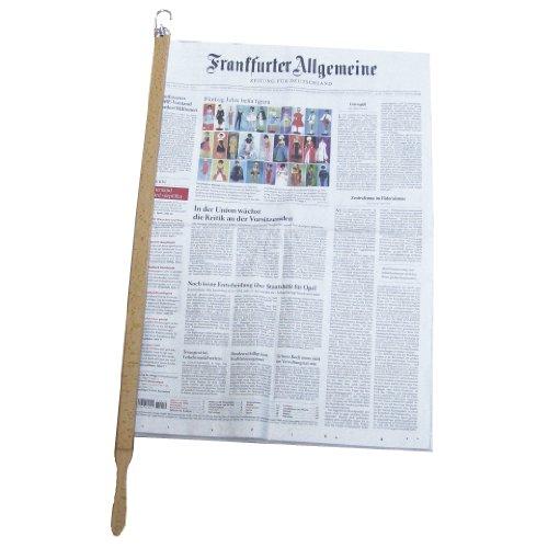 Zeitungshalter Zeitungsstock 'Pronto' buche hell max. 60cm Einspannlänge