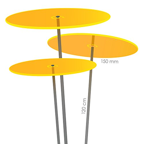 Cazador-del-sol  medio | tres | 3 Stück Sonnenfänger-Scheiben gelb 1,20 Meter hoch - das Original