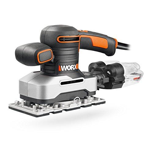Worx WX642 Schwingschleifer 270 W – Handlicher Schleifer mit Zyklontechnologie für ein sauberes Arbeiten – Großer Schwingkreis & einfache Bedienung