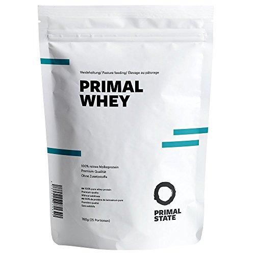Premium Eiweißpulver neutral | PRIMAL WHEY Proteinpulver | 100% reines Molkeprotein aus irischer Weidehaltung | Low Carb Protein zur Erhaltung & Zunahme der Muskelmasse | Geschmacksneutral und ohne Zusatzstoffe | 760g