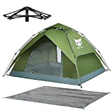 Night Cat Wasserdichtes Campingzelt 2 3 Person Sofortige Pop Up Automatische Dome Urlaub Einfache Einrichtungszelt für Outdoor Wandern Doppelschicht
