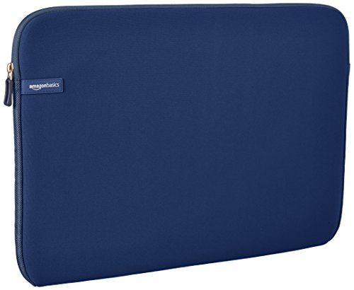 AmazonBasics Laptop-Schutzhülle, für eine Bildschirmdiagonale von 17,3Zoll, Marineblau