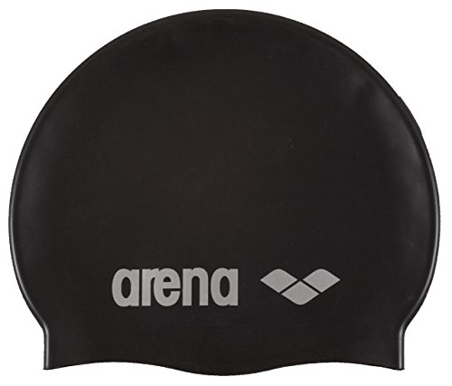 arena Unisex Badekappe Classic Silicone, black-silver, One size,91662