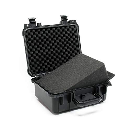 Universalkoffer Outdoor Schutzkoffer Anpassbar Kamerakoffer Fotokoffer Schwarz M 35x29,5x15cm