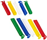 Fackelmann Aromaclips, Verschlussclips aus Kunststoff in 2 Größen, Verschlussklammern in weiß/blau/gelb/grün/rot, Menge: 10 Stück