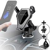 Auto-Handyhalterung mit kabellosem Ladegerät, Wireless Car Mount Charger, Induktionsladegerät für alle iPhone, Samsung Galaxy, Huawei, LG mit Qi Standard