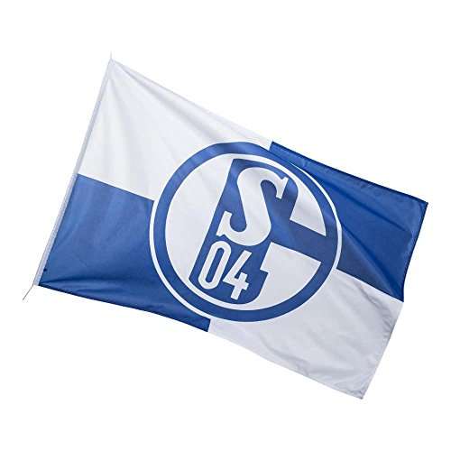 FC Schalke 04 Hissfahne Flaggen/Fahnen, Mehrfarbig, 250x150x1 cm
