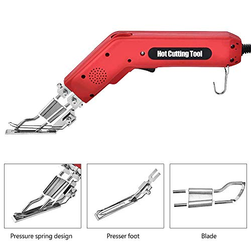 TOPQSC Handheld Elektrisches Heißes Messer Stoff Stoffschneider Professionel Heizmesser Zum Schneiden von Bändern, Seilen, Segeltuch und verschiedenen Stoffen 300W