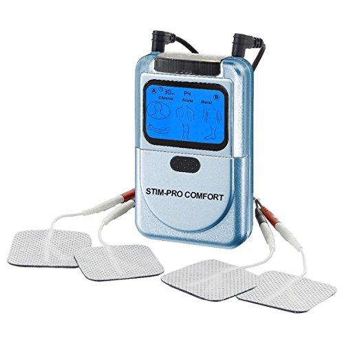 TENS Gerät STIM-PRO Comfort 2-Kanal Elektrostimulation, Reizstrom einfache Bedienung